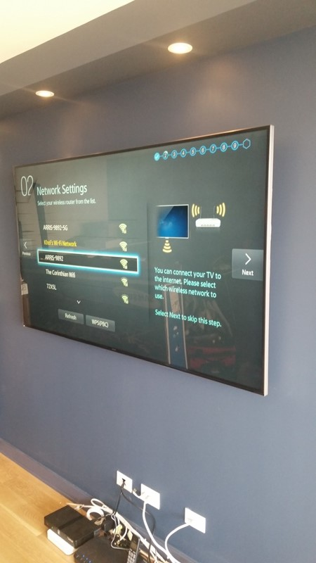 Another flat screen TV mounted on the wall in Forest Hills, with the wires organized by DTV..jpg