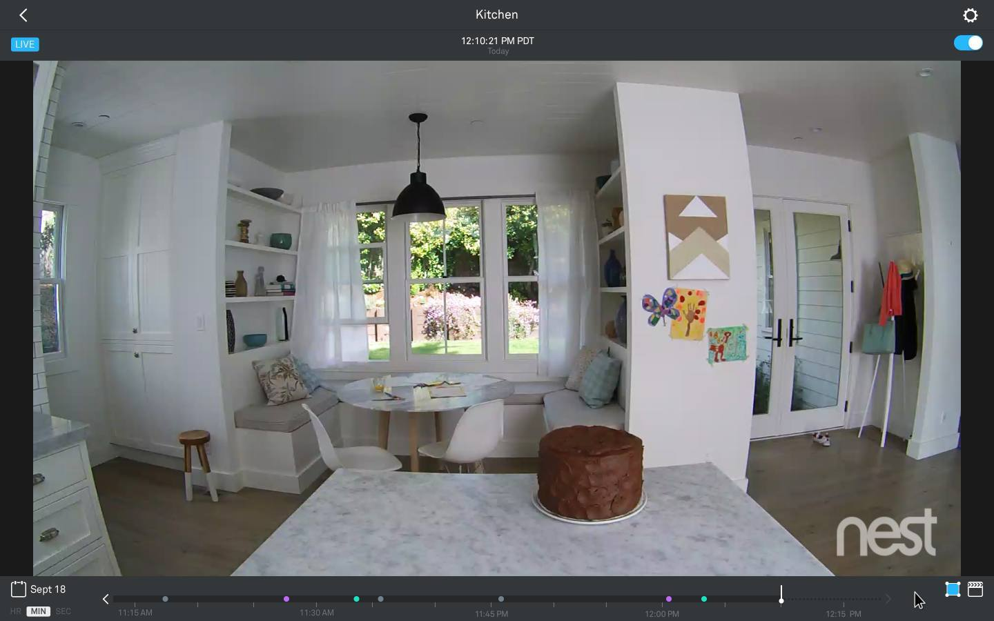 Application to your phone and Nest cameras
