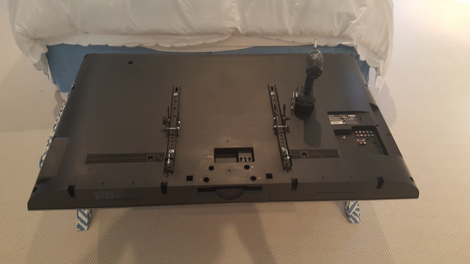 back side of tv panel