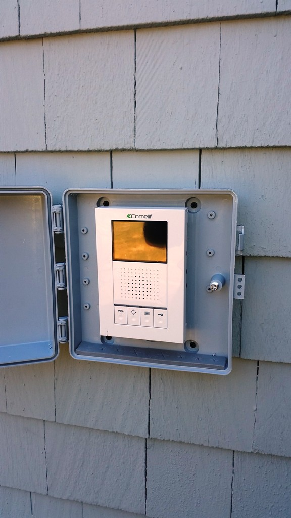 Backyard COMELIT Intercom Unit Upstate New York