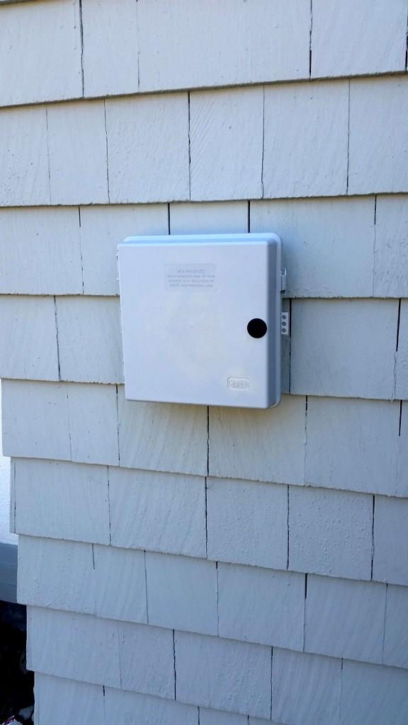 Backyard Unit in Weatherproof Housing