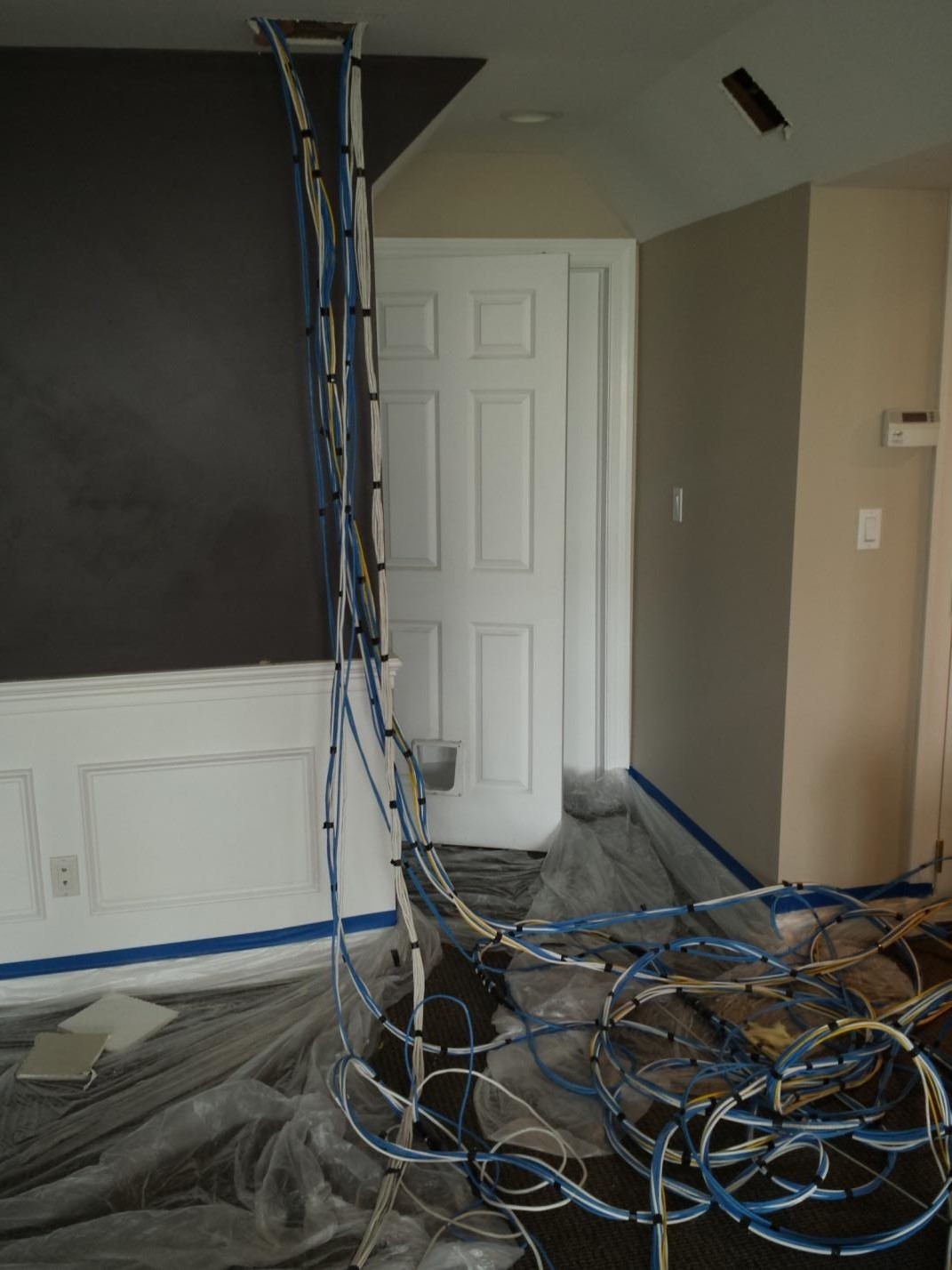 Residential Structured Wiring Project Scarsdale Ny Dtv Structuredwiring Cables Included Audio Coax And Internet Connections