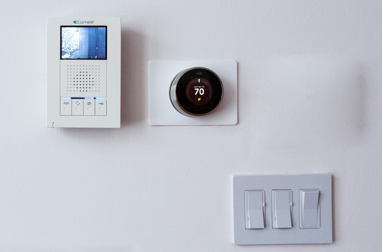 Comelit Intercome unit, Nest Climat Control and smart lutron lights switchers