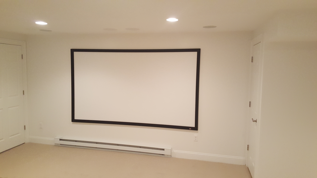 Draper 120-inch high-definition projection screen