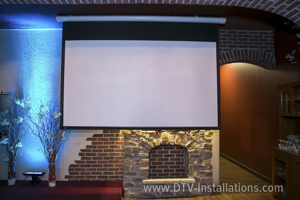 Electric Motorized Drop Down Projection Projector Screen