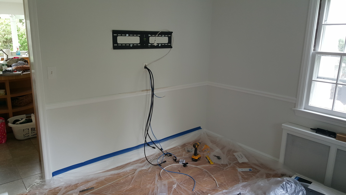 family room prperation fortv mounting (wiring)