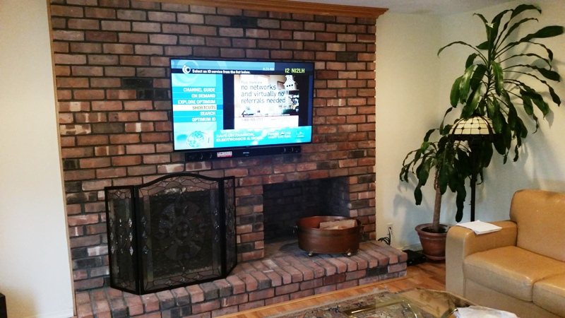 Flat Screen Tv Mounting Over Brick Fireplace South