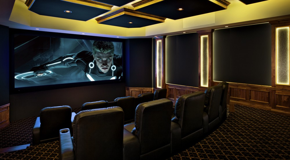 High end 7 2 4 studio grade home theater system with m k - Installation home cinema salon ...