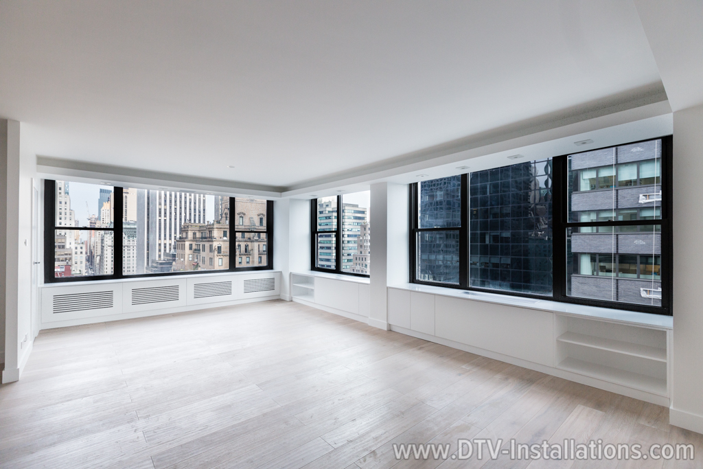 Motorized Lutron Shades Installation | Luxury Condo, NYC