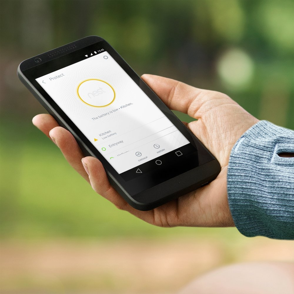 Mobile application for Nest Protect smoke