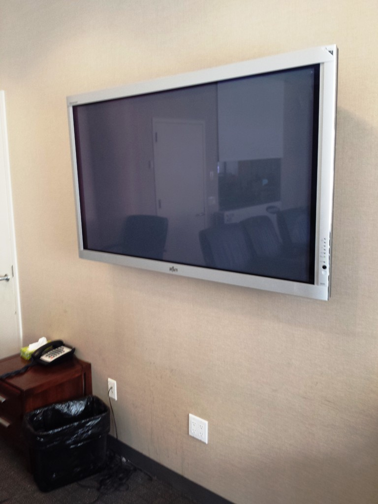 New TV mounted on the wall