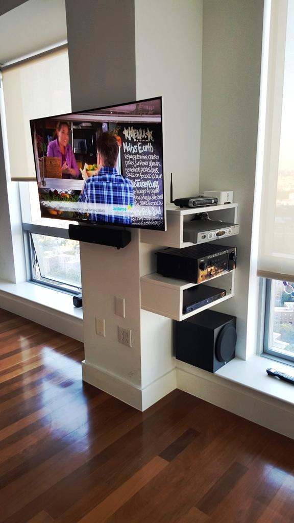 New X2100W Denon Polk Speakers and a Polk oudio subwoofer installed