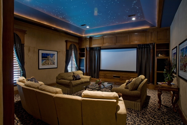 roman shades for home theater