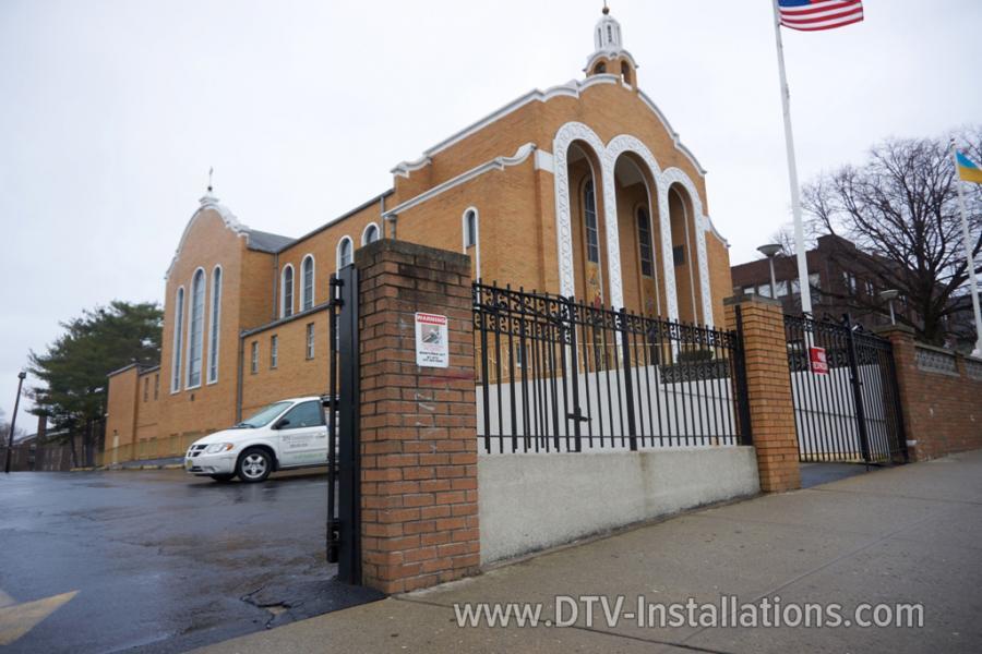 CCTV cameras installation at a church in Brooklyn, NY