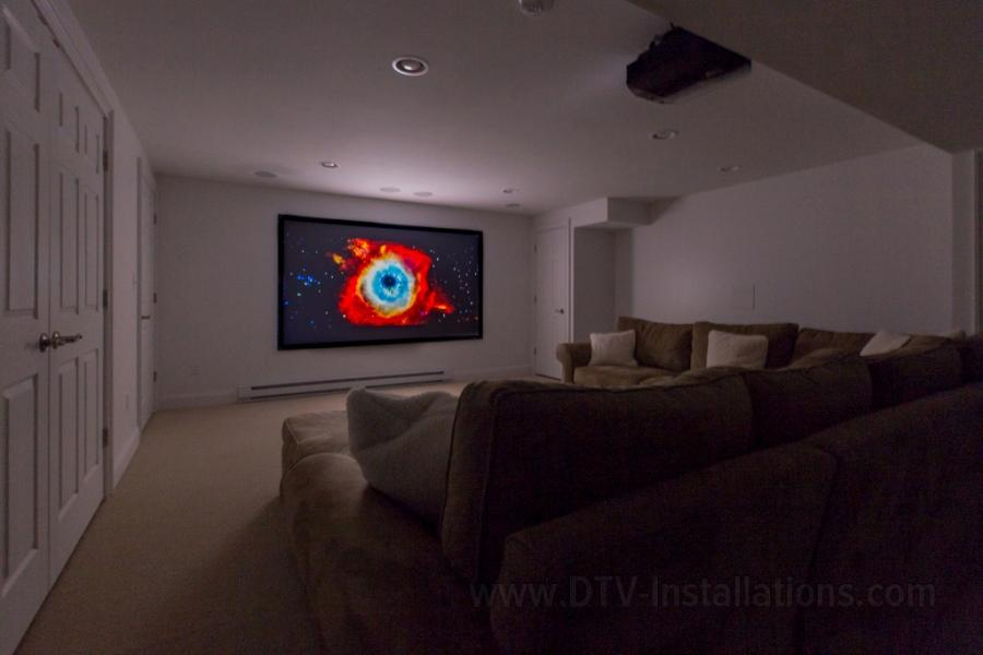 "Draper 110"" fixed projector screen"