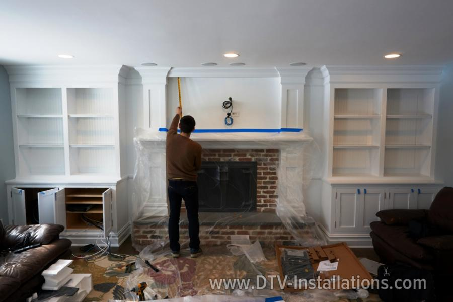 During home theater installation