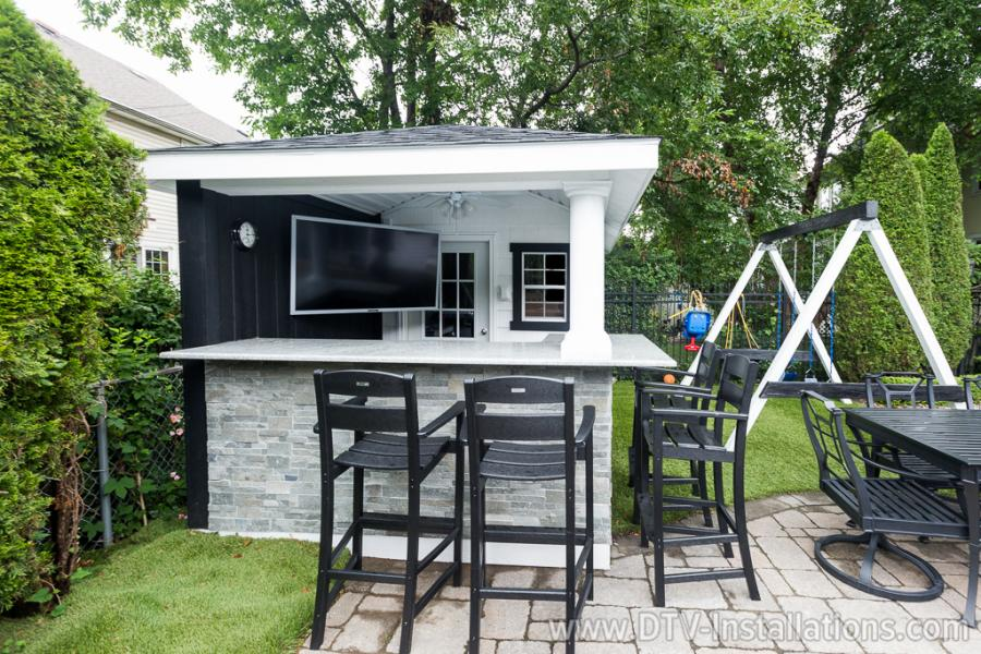 full 5.1 outdoor home theater system
