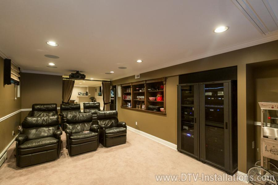 home theater room from the front