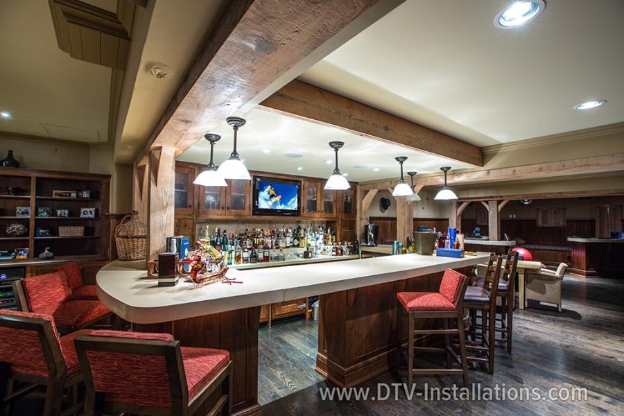 in-ceiling-sonos-speakers-installation-in-the-bar-Scarsdale-NY