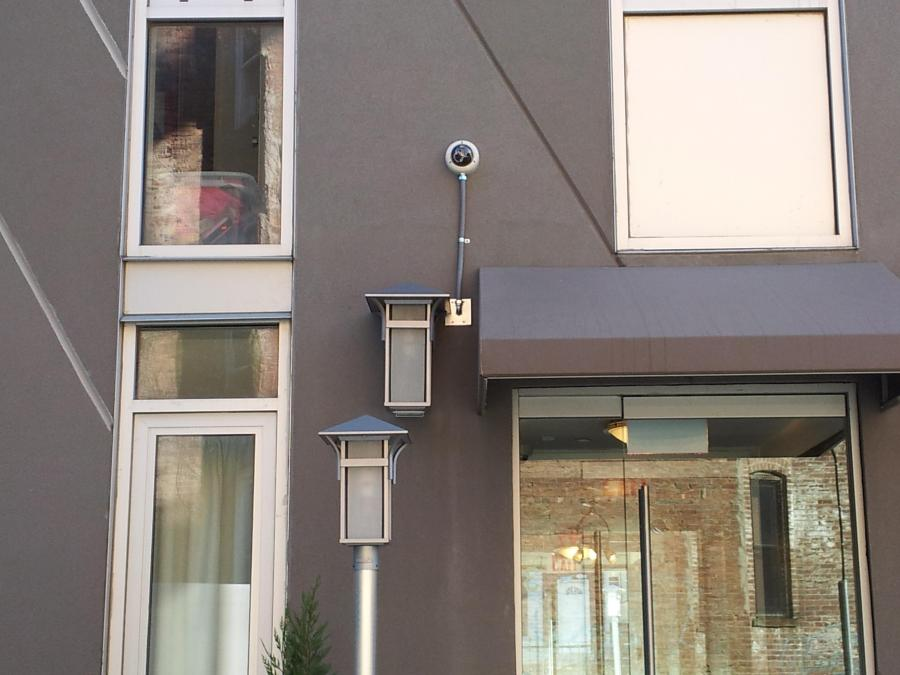 Installation security cameras at residential building of Upper West Side in Manhattan, NY 2