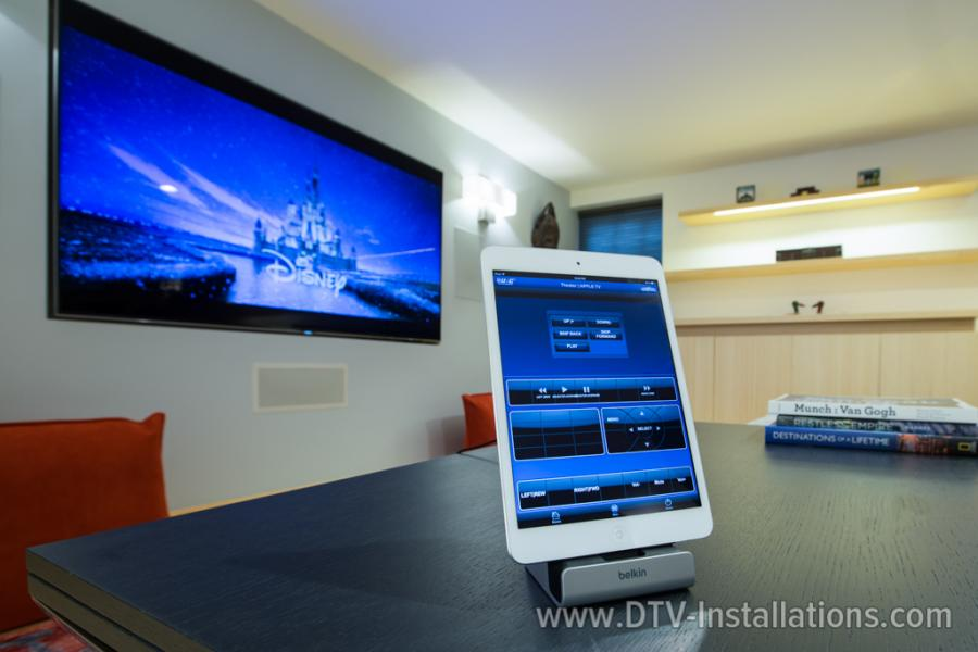 Ipad mini to manage home theater system