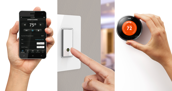 Nest and Lutron home automation controls