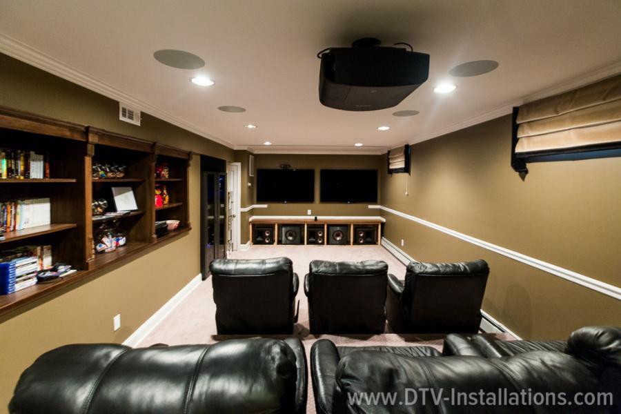 powerful ceiling speakers in cinema room