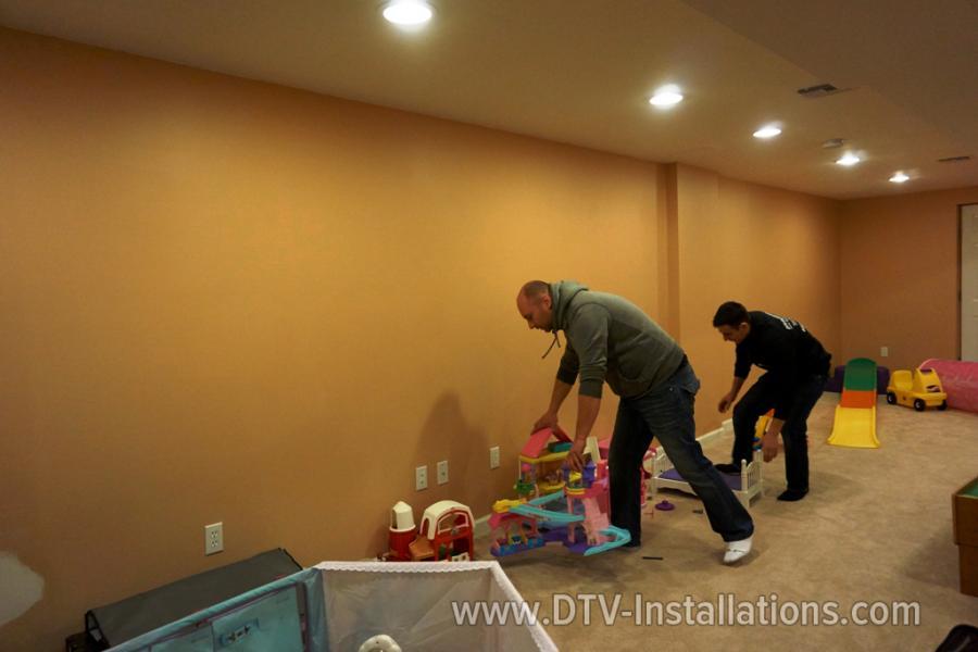 Preparing to install TVs