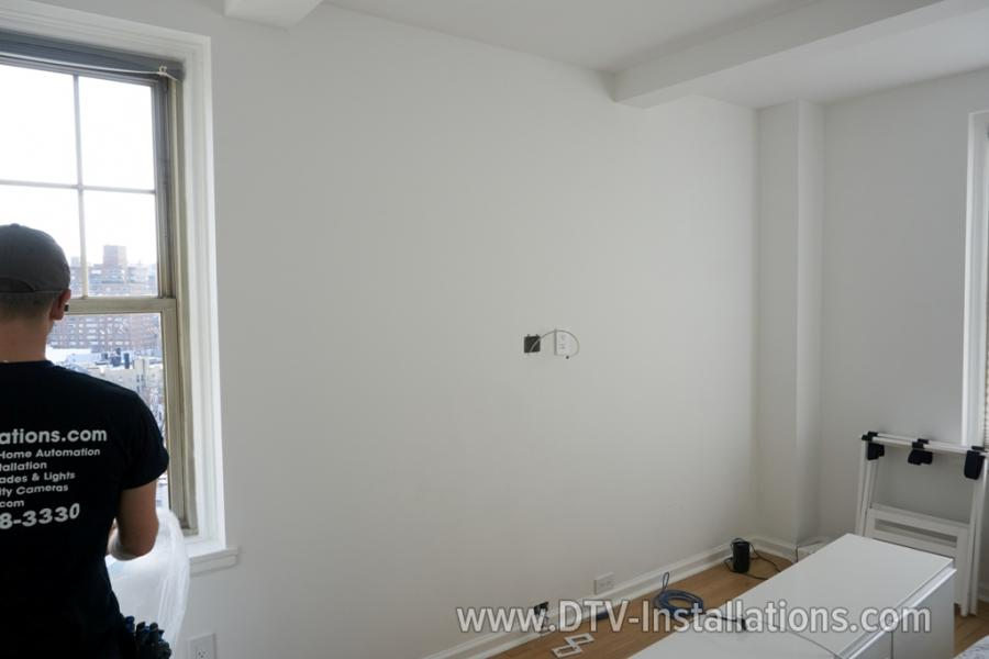Preparing wall for TV Mounting in NYC building