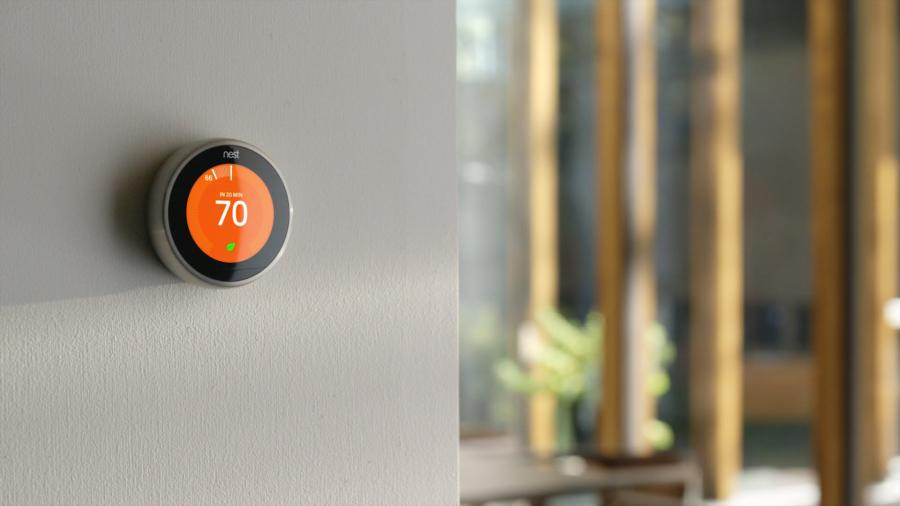 Smart Thermostats on the smart home wall