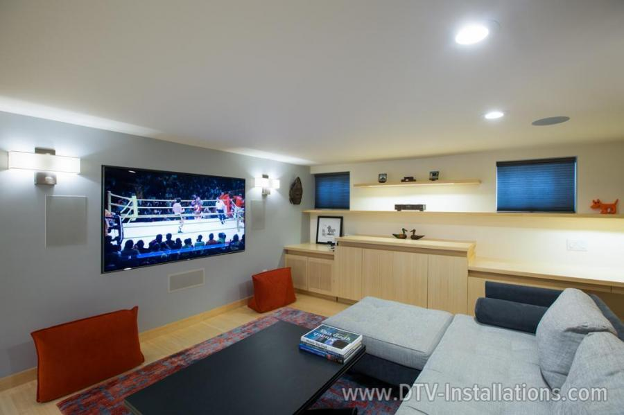 We installed  KL­7800­THX in­wall speakers in the front and a powerful KW­120­THX in­wall subwoofer