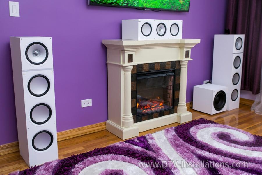 We selected KEF Q700 floorstanding towers for the two front speakers