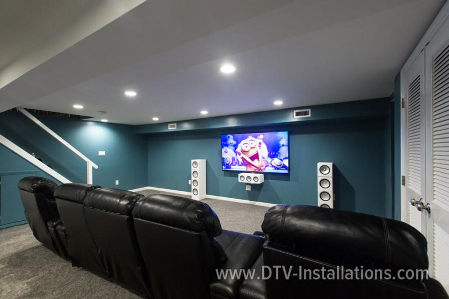 We supplied and hung a Sony XBR75X850C 75­inch 4K3D LED Smart TV