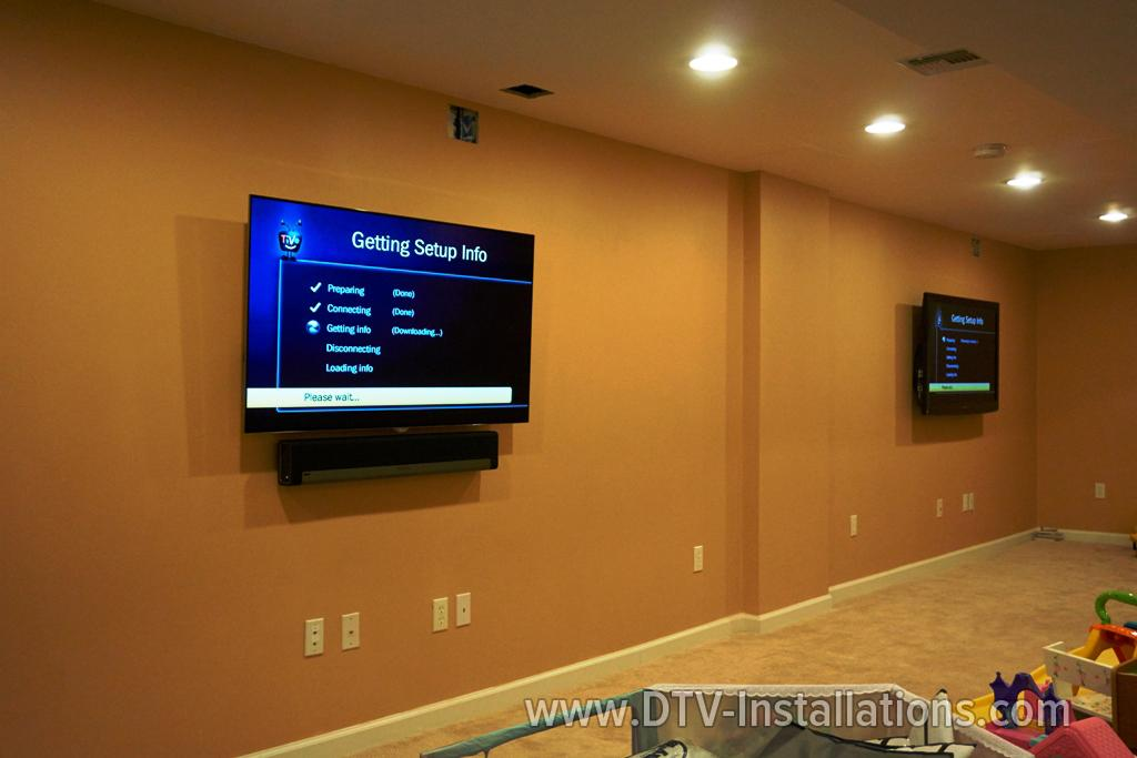 Installing three large screen hdtvs state of the art for Mirror for lg tv