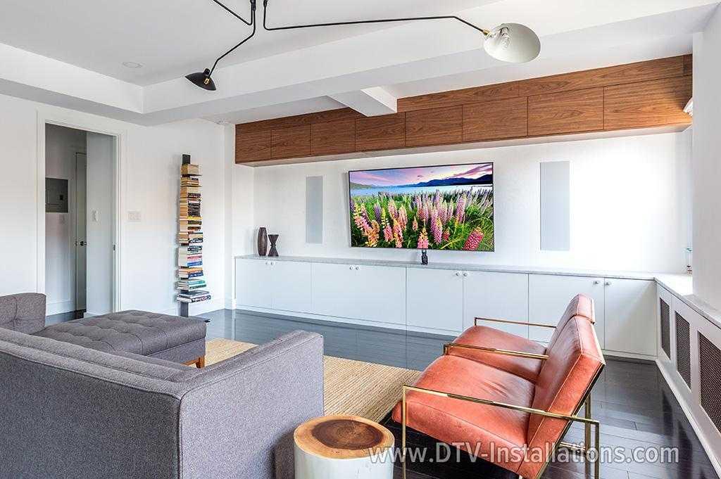 Sony XBR75 Z9D 75u201d 4K HDTV Home Theater Installation In Living Room   New  York