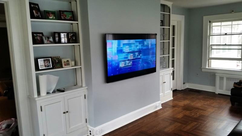 Tv Mounted On Concrete Wall Ir Extender Setup Staten