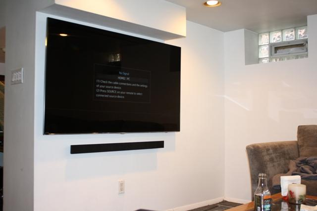 Tv Wall Mounting Sound Bar And Ir Extender Forest Hills