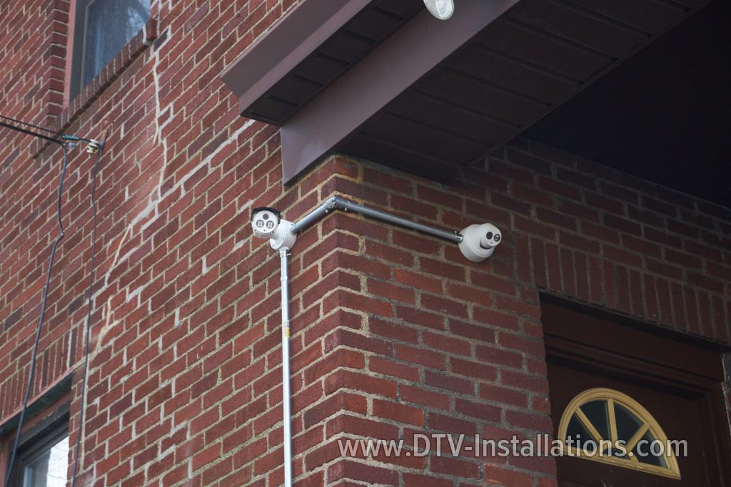 Closed Circuit Tv Cameras Installation At A Church And
