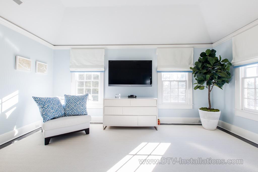 Contemporary Home Theater Installation | Darien, CT (Master Bedroom ...