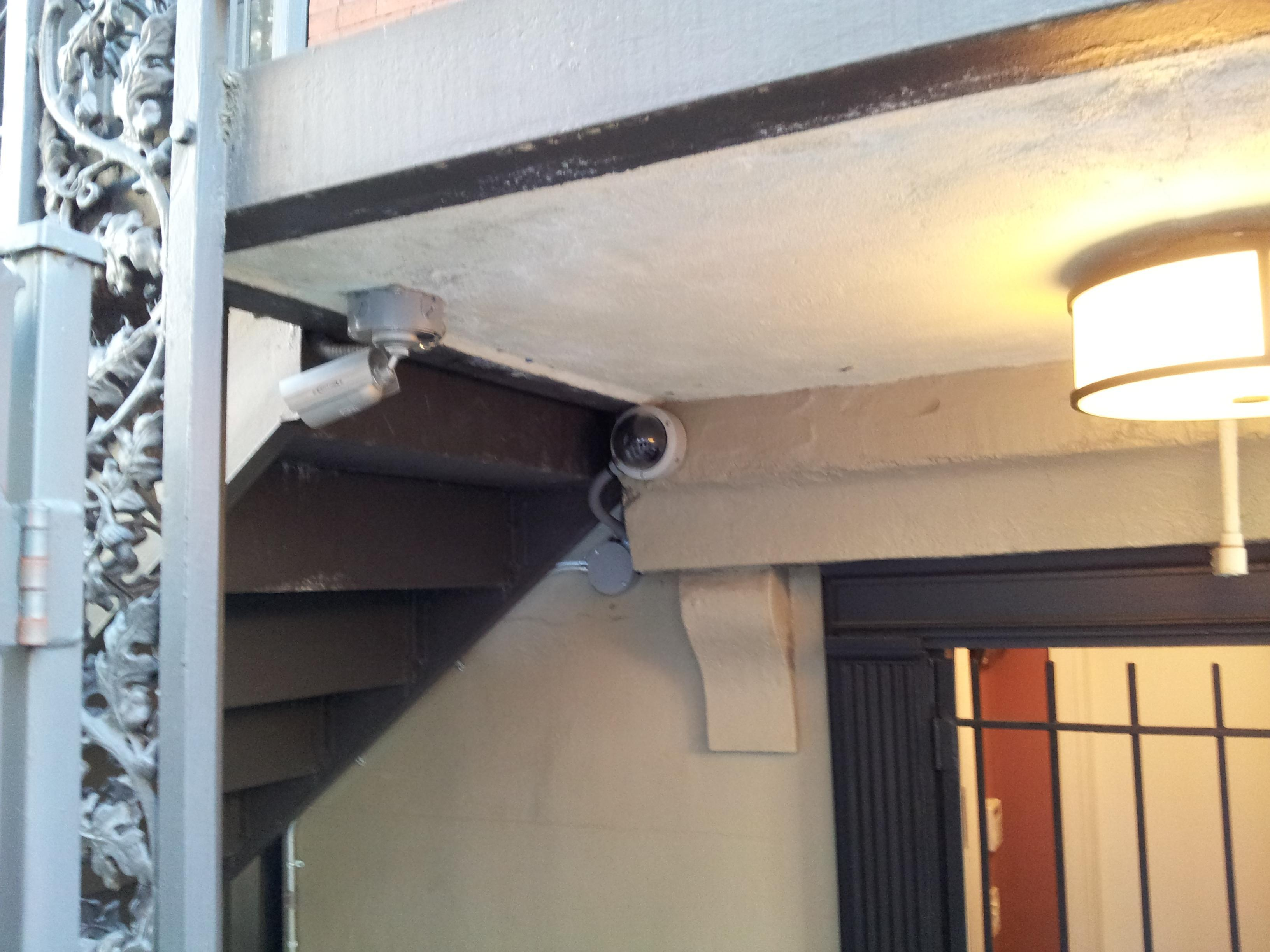 Honeywell CCTV cameras mounted on ceiling