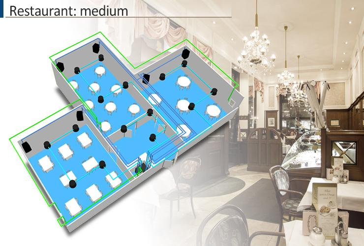 Sound design for restaurant