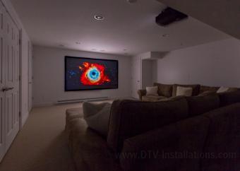 """Draper 110"""" fixed projector screen"""