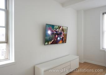Modern TV & Soundbar Installation with Hidden Remote Control Operation  NYC (project preview pic)