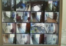 Security Cameras Feed in residential building of Upper West Side, Manhattan