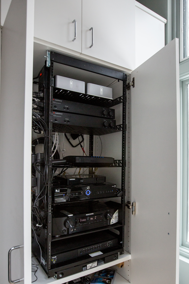 the rack for audio video equipment