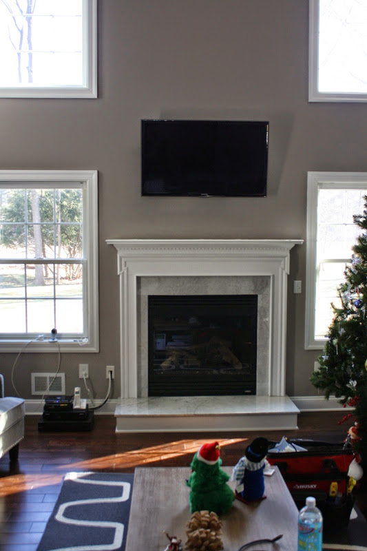 TV mounted over a fireplace in Edison, NJ4.JPG