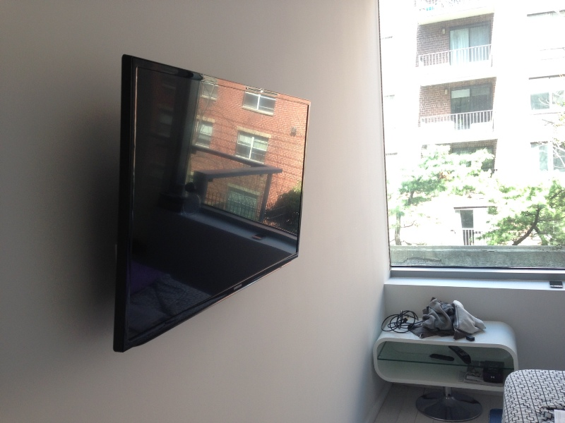TV Wall-Mount Installation with Wire Concealment | Manhattan, NY ...