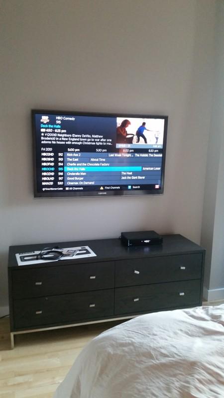 Flat Screen Tv Mounted On Sheetrock Wall Manhattan Ny Dtv