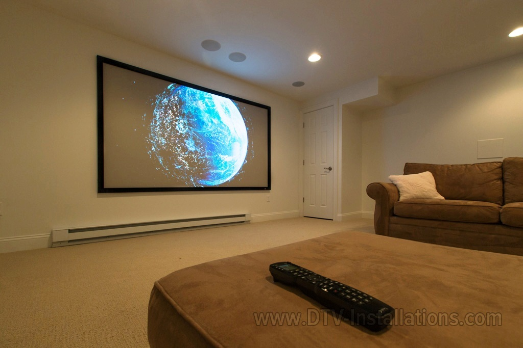 Video projector which we hung on a Peerless ceiling mount