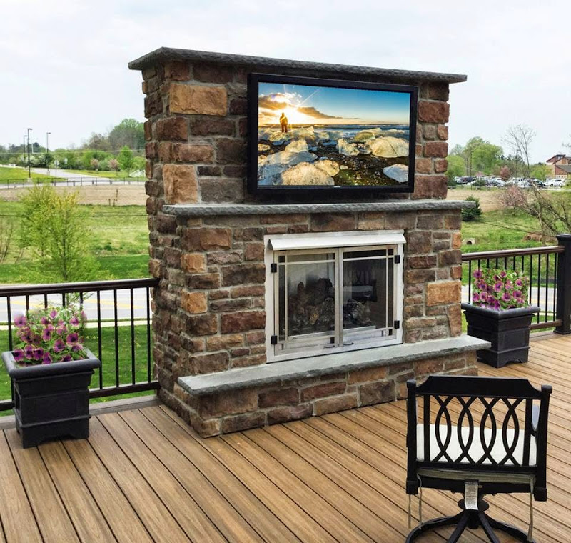 View tv outdoors